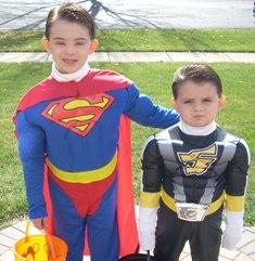 Superheroes -- Halloween 2010