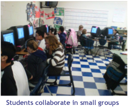 Washoe County: Students Collaborate in Small Groups Graphic