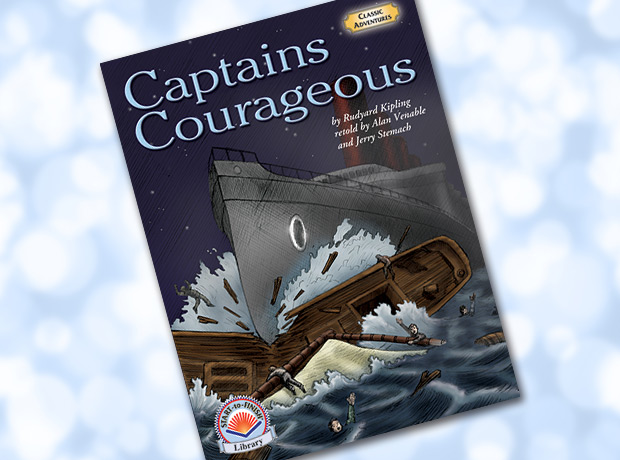 """a book about young boy harvey cheyne """"captains courageous"""" tells the story of how harvey cheyne, young son of an american multimillionaire, travels back to america on a fishing schooner called the """"we're here"""", by one of whose crew he was saved from drowning."""
