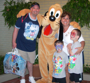 Roberta and family at Disney