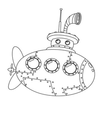 submersible line drawing