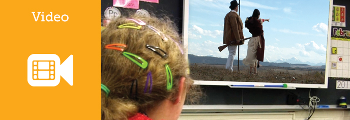 Video—student watching video in the classroom